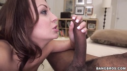Vanessa Luna takes on big black sausage