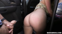 Dixie Belle gets banged very hard in a car
