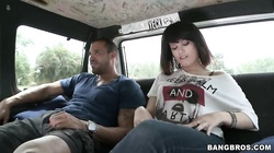 Pretty Oxaunna Envy gets naked in bangbus