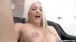 Tall busty Maci Lee prefers to be drilled on the sofa