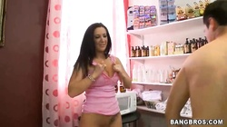 Lucky guy is being pleased by Jayden Jaymes and her friend