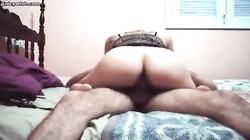 Hot indian girl riding a dick