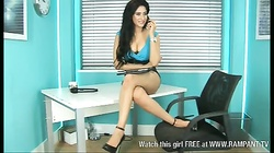 Hot Indian babe Zohra as secretary in office