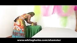 Indian Desi MILF Fucks and Sucks Big White Dick