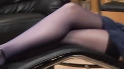 British slut gets anal in the office