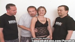 Hood Rat Blonde Group Fuck Sperm Swallow