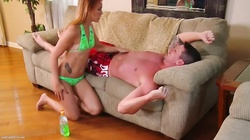 Young Red-Head Teen Gets Facial