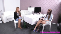 FemaleAgent Shy women turns into an insatiable lover