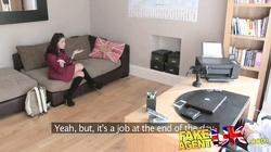 FakeAgentUK Pert round ass spanked and fucked