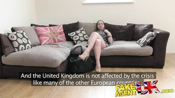 FakeAgentUK filthy euro chick gets anal creampie