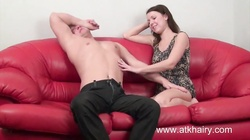 Roxy gets the load of hot sperm on her hairy bush