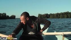 Bella Margo  in amateur nude chick  fucks a guy in a boat