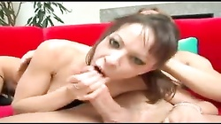 Flexible babe with great body has anal sex
