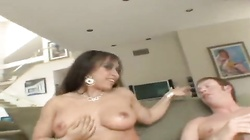 Girl with curves makes his cock hard for anal