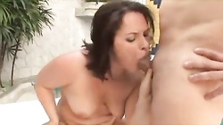 A fat Brazilian fucked in her ass and her pussy