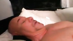 Rough handjob and crazy anal fingering of his ass