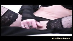 French gets cum after anal drilling