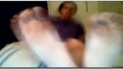 Straight guys feet on webcam #136