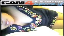 Busty Asian Babe Flashes Tits and Rubs Pussy on Cam4