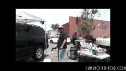 Hot Brunette Slut Flashing Tits In Public