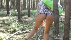 -Stim outdoor from BDSMARENA.NET ,Public flashing in wood, jerking off