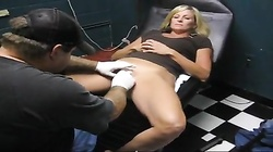 Sexy Slave Slut Gets Her Clit Hood Pierced