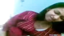 Indian Girl With Shaved Pussy And Small Tits Has POV Oral, Cowgirl And Doggystyle Sex On The Bed. (h