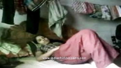young newly married indian couple sucking and fucking in their bedroom recorded
