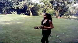 Sexy Desi Indian Girl Excercise - Boob Show