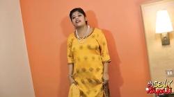 Indian babe Rupali exposing big tits masturbating with dildo