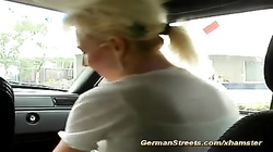 german MILF pickup for hard car fuck