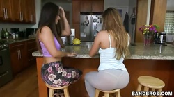 Two big-butt sluts are demonstrating their asses in the video by Ass Parade studio