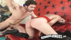 Hardcore porn with slutty redhead emo girl going wild