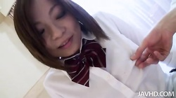 Asian schoolgirl diving in hardcore sex with horny lover