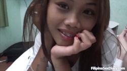 Stunning Filipina is getting pounded by a horny white boner