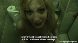 Gorgeous blonde is swallowing sperm loads in the video by Czech Gangbang