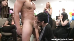 Sensual ladies are blowing juicy dicks at the hardcore party