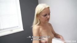Skillful mature whore trying to swallow the whole wiener