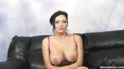 Big-breasted milf fucks hard in her wide-opened mouth