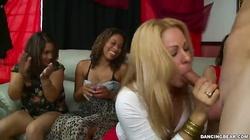 Elegant glamour blonde sucking a dick of Dancing Bear
