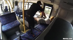 Lustful slut is getting pounded at the seat in the old train