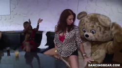 Sexy Dancing Bear banging big-breasted slut in the mouth
