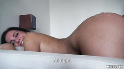 Astonishing smiling slut is getting fucked in her ass in the video by Lets Try Anal