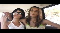 Tanned young lesbians are licking and eating pussies in 69 pose