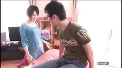 Amazing Asian girl with pleasure sucking cock in 69 position