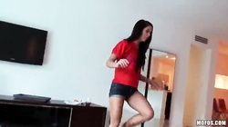 Completely innocent young brunette fucks in the ass