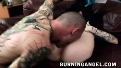 Hardcore deepthroat blowjob a by naughty emo girl