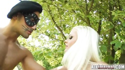 Blonde Zafira takes sperm load after deep penetration