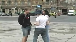 Russian Chick gets hammered by two Studs