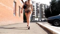 Following Sexy Teen Ass in Russia HD